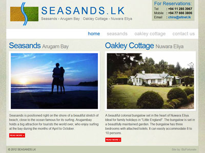 SEASANDS.LK - Holiday Bungalows in Sri Lanka